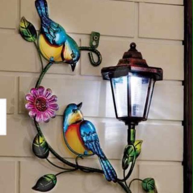 Solar Wall Plaque - Birds - £9.99 + £4.99 delivery at Studio