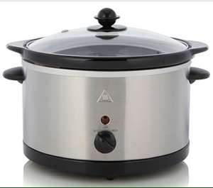 George Home 3L Slow Cooker - Stainless Steel £10