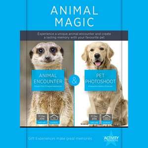Animal Encounter and Pet Photoshoot - Activity Superstore - Animal Magic gift experience for 2 £65 with Free Delivery at Debenhams