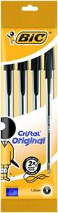 Cheap Subscribe & Save filler items, to get 15% discount on S&S orders - BIC Cristal Original Ballpoint Pens Black 4 Pack 75p