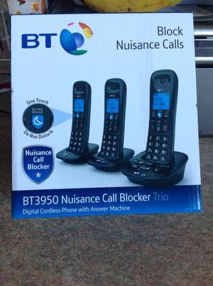 BT 3950 Call blocker phones with Answer Phone (was £90) reduced to £22.50 instore @ Tesco