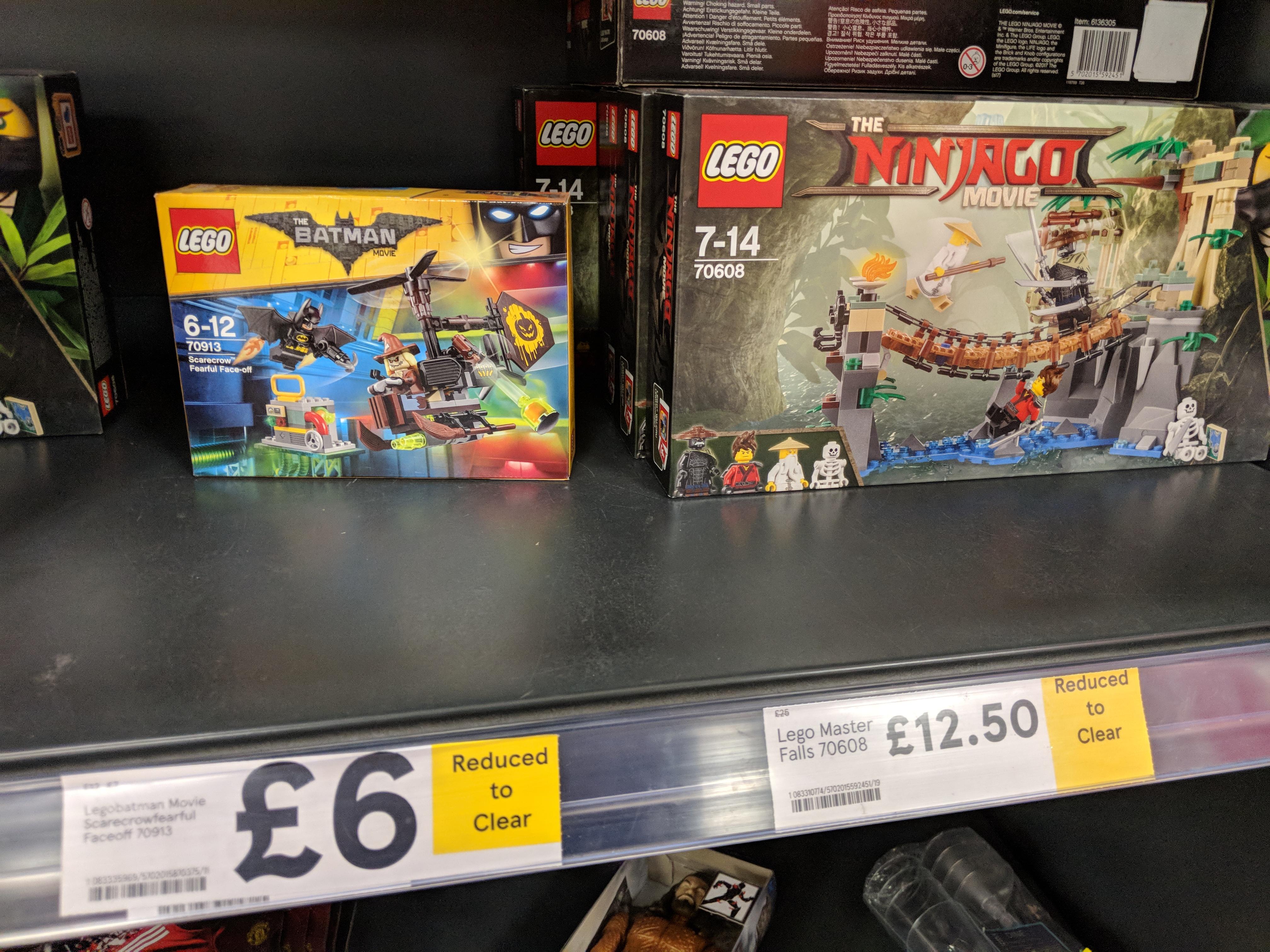 TESCO: LEGO Batman Scarecrow (70913) £6 & LEGO NINJAGO Master Falls (70608) £12.50