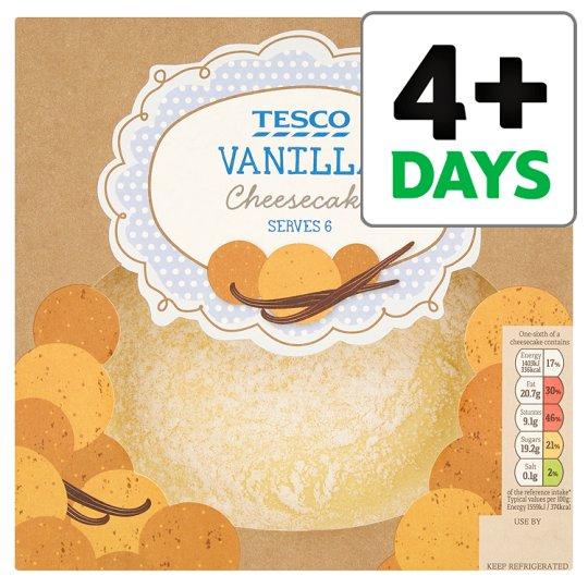 Fresh Vanilla Cheesecake (Serves 6) 540g only £1.62 @ Tesco (from 21/02)