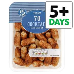 70 Cocktail Sausages 616g for £1.50 @ Tesco (from 21/02)