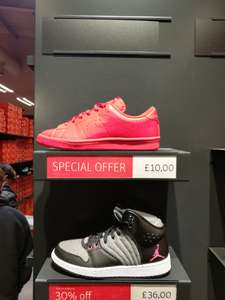 Youth Nike red court trainers £10 instore @ Nike Outlet