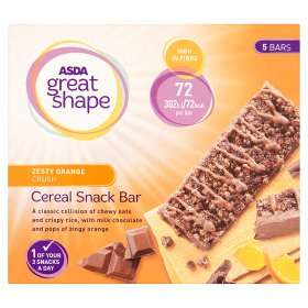 Great shape cereal bar and meal replacement porridge , two flavours 50p online @asda