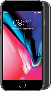 Apple iPhone 8 64GB Unlimited mins and texts, 16GB data FREE phone £43 per month (£39 a month after cashback) 24m @ MobilePhonesDirect