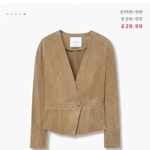 Mango Leather Jacket reduced from £119.99 - £29.99 / £32.94 delivered @ Mango outlet