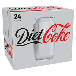24 Cans of Diet Coke/Coke Zero for £6 @ Tesco