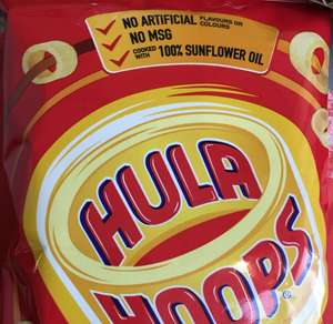 Hula Hoops original 34 gram from 12.5p (8 for £1) @ heron foods