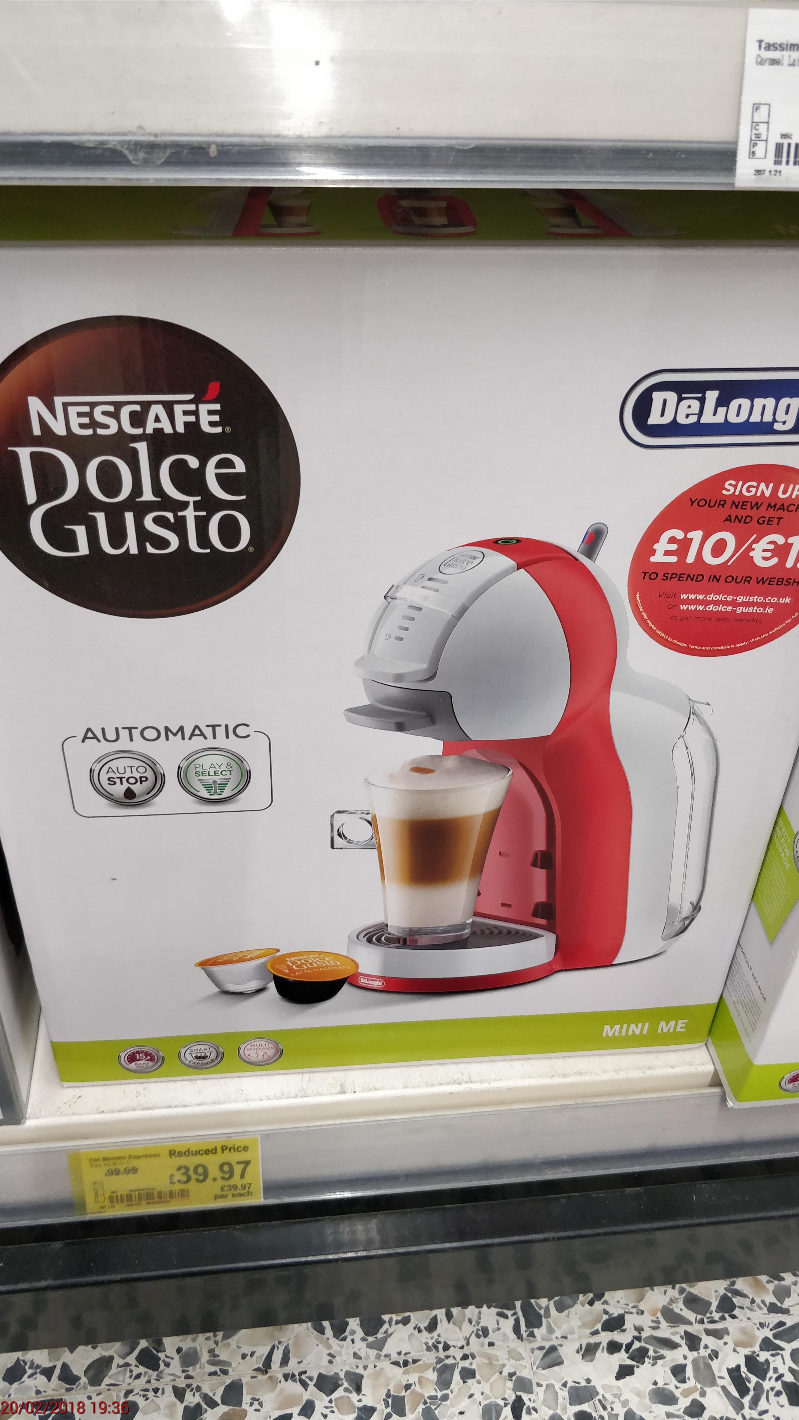 Dolce Gusto Minime Espresso £39.97 - Asda Pilsworth
