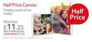 Half price canvas prints at Tesco Photos