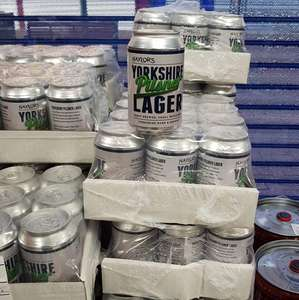 12 cans for £4 Yorkshire lager at Barry's Bargain Store in Consett