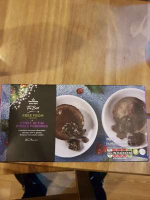 Morrisons The Best Gluten Free melt in the middle puddings - 75p instore (Cardiff)