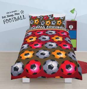 Football and princess single duvet cover £4.99 delivered @ LINEN IDEAS / Amazon
