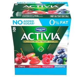 Activia fat free red fruit yogurt variety pack 8x125g 16 pots for £3.80 with PYO @ Waitrose