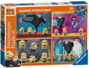Despicable Me Minions set of 4 x 100 piece jigsaws £3.60 at Debenhams