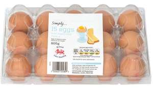 Simply 15 Eggs (Mixed size) £1.09 @ Lidl