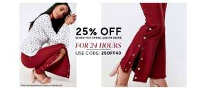 25% off £40 Spend on Fashion with Voucher Code @ Brand Attic