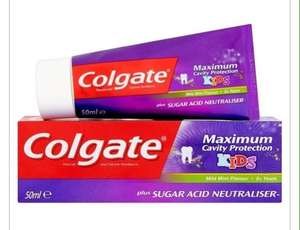 Colgate Maximum Cavity Protection 3+ Kids Toothpaste 50ml £1 @ Superdrug