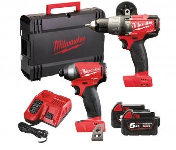 Milwaukee 18v Brushless Twin Pack, 135nm Combi Drill & 203nm Impact Driver, 2x 5ah Batteries £335.99 @ Powertoolmate