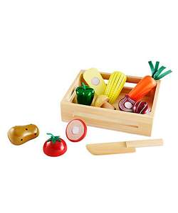 2 for £15 On Selected Toys at ELC eg Wooden Vegetable Crate / Wooden Fruit Crate £12 each or 2 for £15