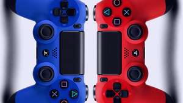 DualShock 4 Controller Magma Red / Wave Blue - £37.85 - Shopto (Shopto eBay)