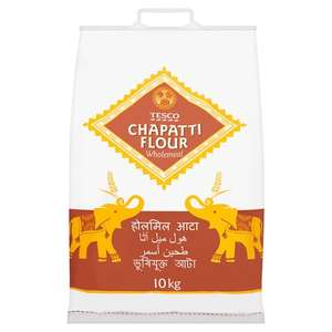 10KG Tesco Wholemeal or Medium Chapatti Flour £3.50 @ Tesco (instore and online)