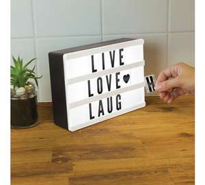 Mini light up message board down from £9.99 now £3.99 @ Argos