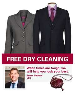 FREE DRY CLEANING FOR THE UNEMPLOYED GOING FOR AN INTERVIEW @TIMPSON