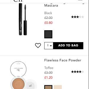Mascara 80p + Free shipping @ ELF