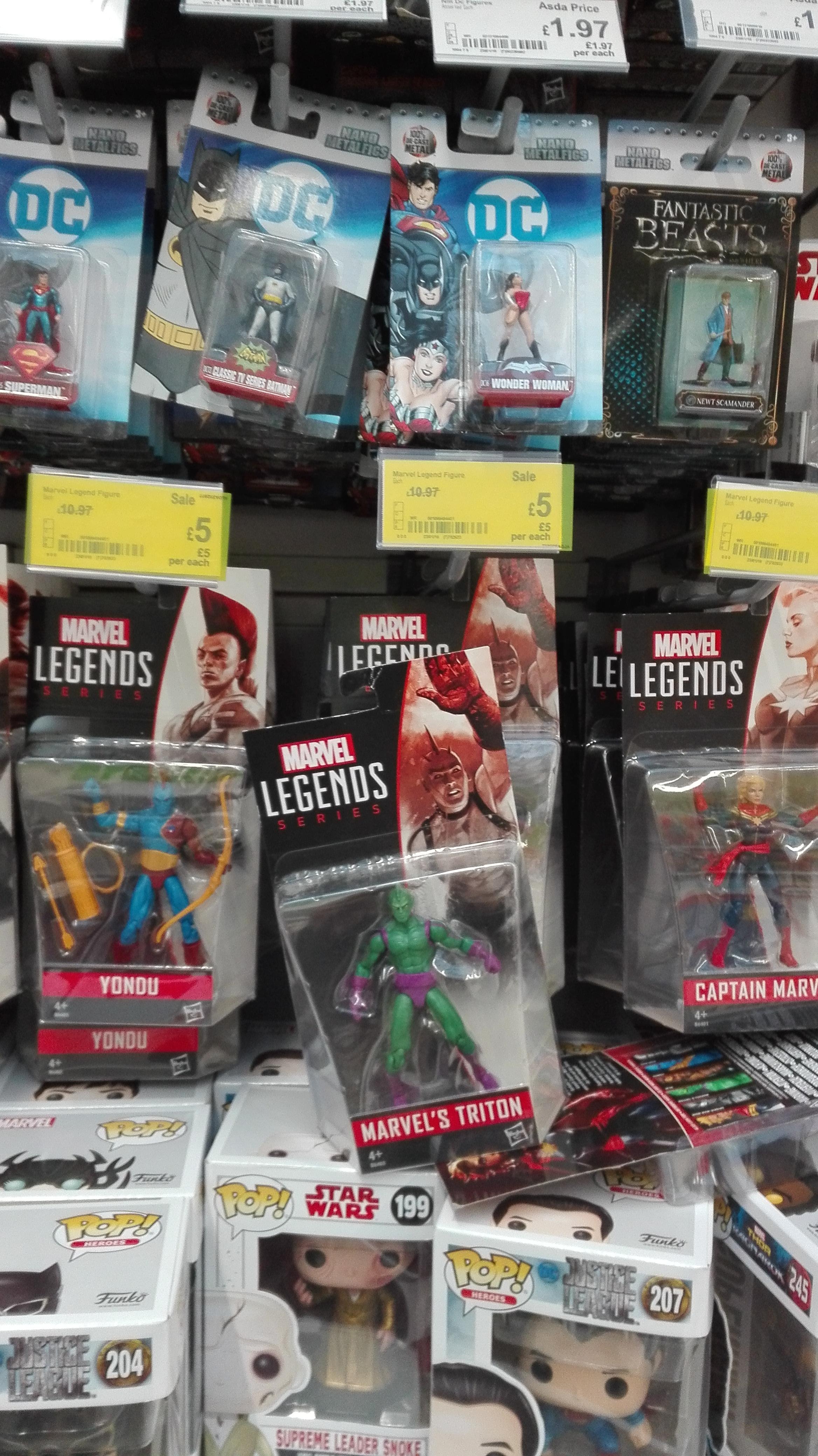 Marvel figures reduced £5 @ Asda Watford