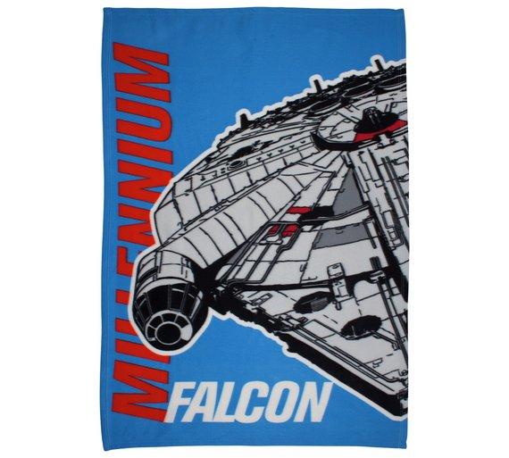 Millenium Falcon Star Wars Polar Fleece Blanket £3.99 @ argos
