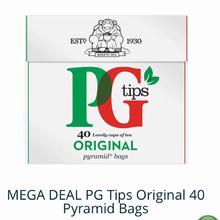 MEGA DEAL PG Tips Original 40 Pyramid Bags 1p + £5.99 del @ Approved food
