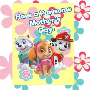 FREE Mothers Day Cards / Printables - including Paw Patrol, Peppa Pig etc at Nick Jr