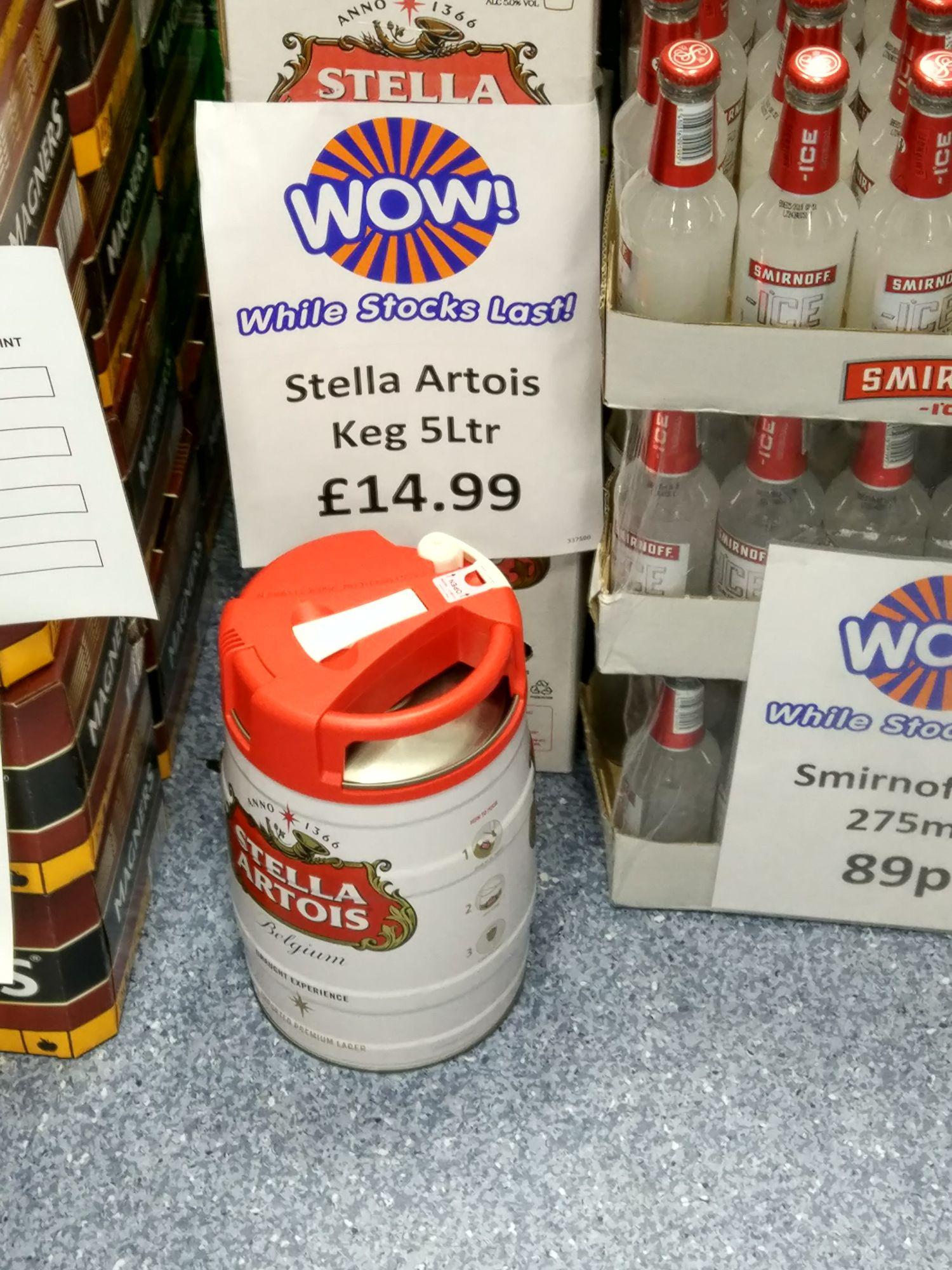 5 litre keg Stella Artois £14.99 @ B&M