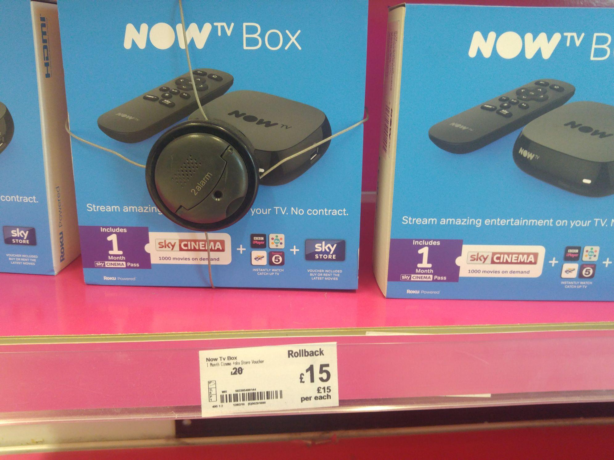 Now TV Box + 1 month Cinema £15 @ Asda - Rochdale