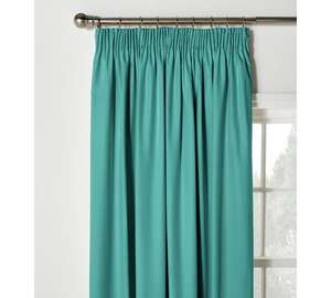 Colour match pencil pleat teal curtains £6.99 was £29.99 @ Argos