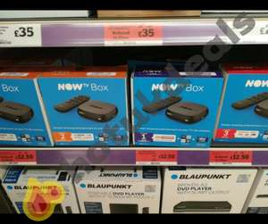 Now TV box Including either 2 months entertainment pass, 1 month sky cinema pass or 3 months kids pass - £12.50 instore @ Sainsbury's (Brierley Hill)