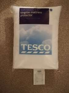 In-store Tesco soft touch mattress protector king size reduced in Tesco, Hucknall, Nottingham - £4