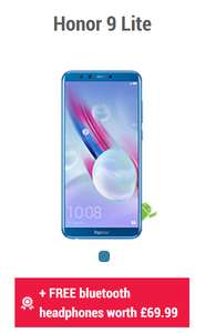 Honor 9 lite with free bluetooth earphones worth £69.99 @ carphonewarehouse - £199
