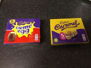Cadburys Creme Eggs and Caramel eggs 5 pack £2, BOGOFF @ One Stop