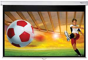 """Optoma 92"""" pull-down projector screen £25.20 delivered at it-supplier.co.uk"""