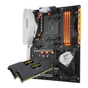 Gigabyte AORUS AX370 GAMING 5 Motherboard & 8GB Corsair Vengeance LPX DDR4 RAM @ Scan £181.78