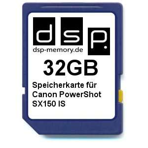 DSP Memory Z 4051557365025 32GB Memory Card for Canon PowerShot SX150 IS  Dispatched from and sold by Amazon                               Dispatched from and sold by Amazon - add on item