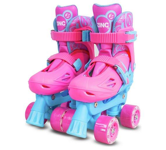 Zinc Adjustable Quad Skates (shoe size 13 - 3) in Pink or Black was £34.99 now £11.99 at Argos (Inline Skates £7.99)