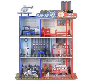 Chad Valley Wooden Dual Themed Fire & Police Station now £14.99 C+C @ Argos