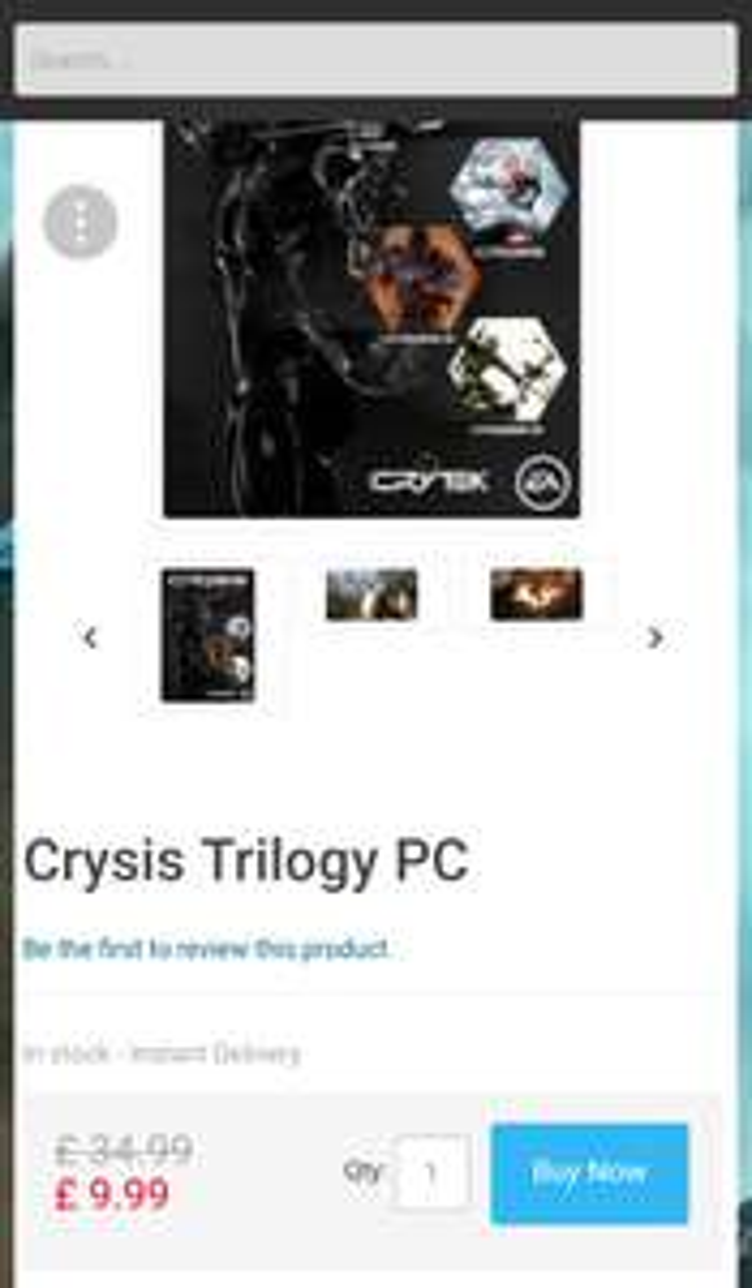 Crysis triology - cd keys / 5% Facebook code £9.49