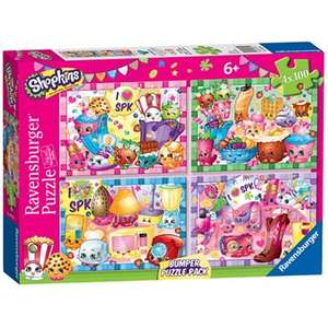 Shopkins - 4x 100pc Jigsaw Puzzle Bumper Pack + Free Delivery with code SH4Z at Debenhams - £3.60