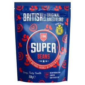 I Am Super Beans British Style Original Baked Beans with BBQ pulled Pork and others 49p at Home Bargains